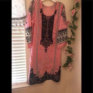 Pakistani designer embroidery dress